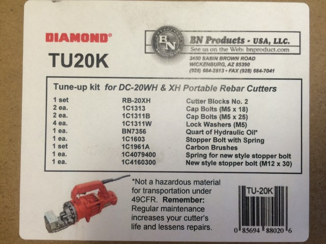 DC-20WH Tune up kit